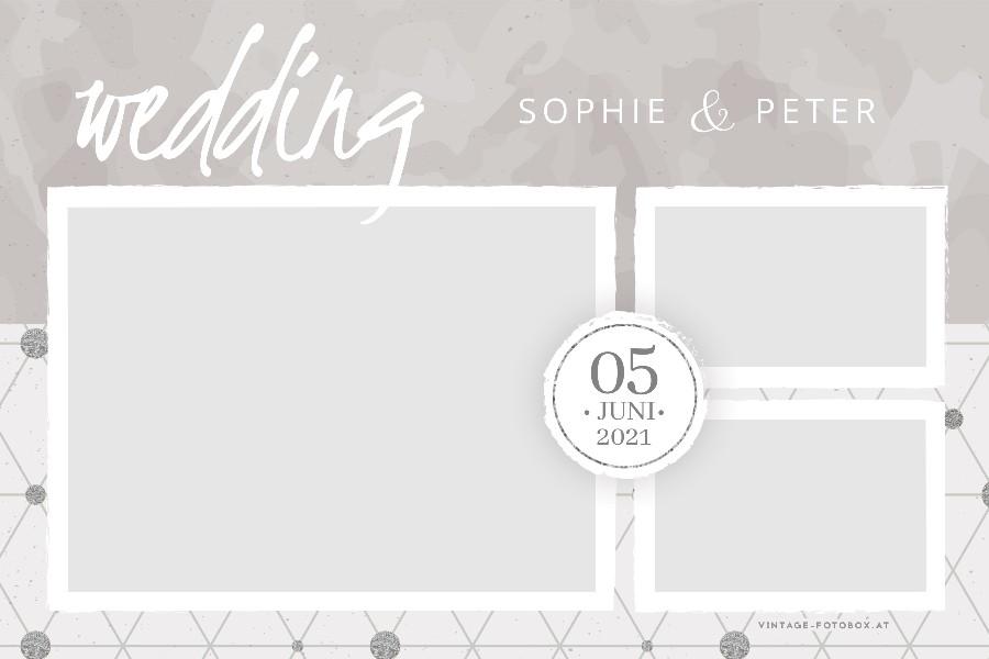 7 Wedding Abstract Silber Quer3 Vorlage - Layouts & Designs - Vintage Fotobox - Vintage Fotobox