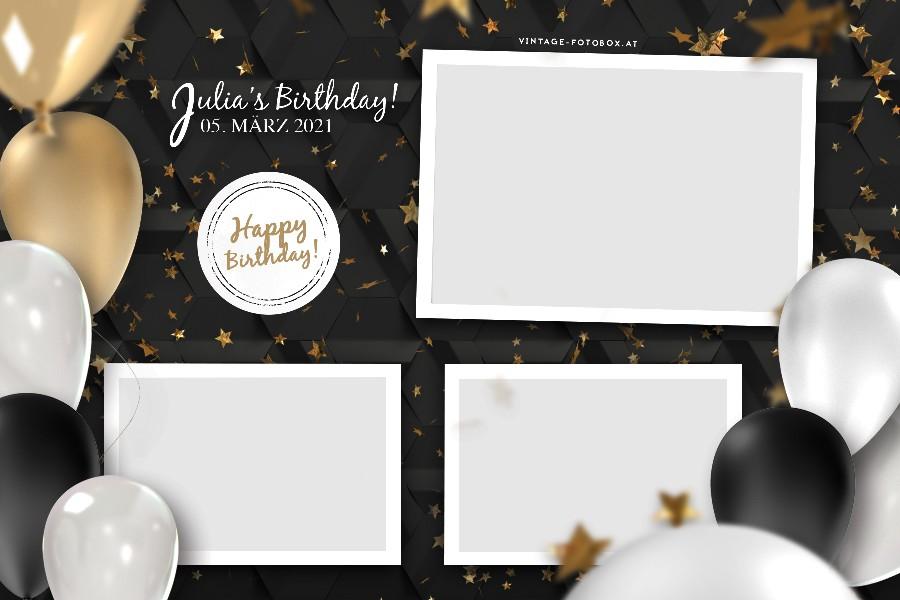 9 Birthday Ballons Quer3 Vorlage - Fotobox für Geburtstage & Privatfeiern mieten - Vintage Fotobox - Vintage Fotobox