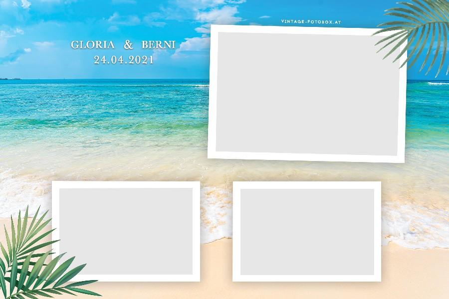 15 Summer Beach Quer3 Vorlage - Layouts & Designs - Vintage Fotobox - Vintage Fotobox